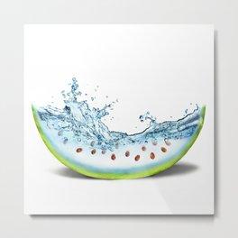 WATER-MELLON Metal Print