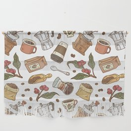 Coffee Break Pattern  Wall Hanging