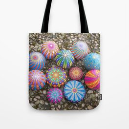 Collection of hand painted mandala stones Tote Bag