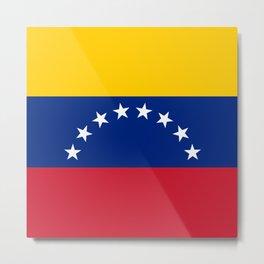 Venezuela Flag Metal Print