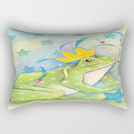 Whimiscal Bull Frog Rectangular Pillow