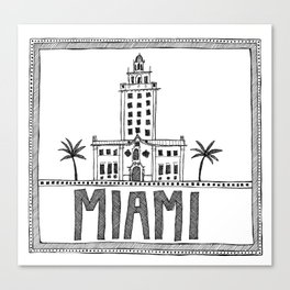 Miami - Freedom Tower Canvas Print