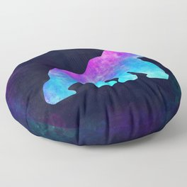 GORILLA IN SPACE // Animal Graphic Art // Watercolor Canvas Painting // Modern Minimal Cute Floor Pillow