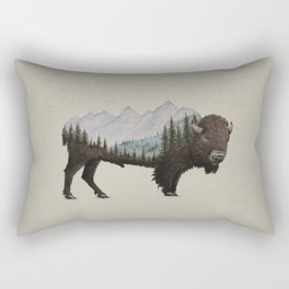 The Land of the Bison Rectangular Pillow