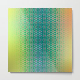 Ombre ornamental pattern Metal Print