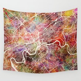 Knoxville map Wall Tapestry