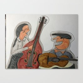 Two Guys in Concert Canvas Print