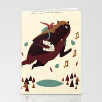banjo Stationery Cards featuring banjo-kazooie by Louis Roskosch