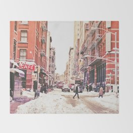 New York City Snow Soho Throw Blanket