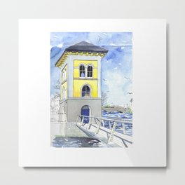 Fishery Watchtower, Galway Metal Print