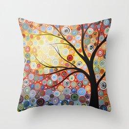 Abstract Art Landscape Original Painting ... Celestial Sunset Throw Pillow