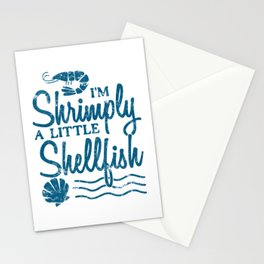 I'm Shrimply A Little Shellfish Gift Stationery Cards
