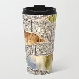 crowded city Travel Mug
