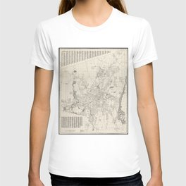 Vintage Map of Worcester Massachusetts (1919) T-shirt