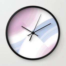 Pastel Circular Color Splash Wall Clock