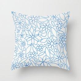Flower Bonanza Throw Pillow