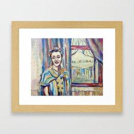 Smile Girl Framed Art Print