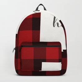 New Mexico is Home - Buffalo Check Plaid Backpack