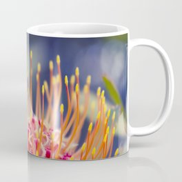 Tropical Sunburst - Leucospermum Pincushion Protea Flower Coffee Mug