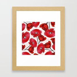 the poppy Framed Art Print