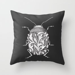 beetle_black Throw Pillow