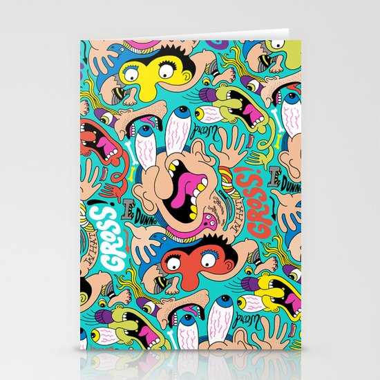 Weird Pattern Stationery Cards