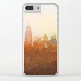 Lansing, Michigan Skyline - In the Clouds Clear iPhone Case