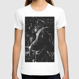 black labrador retriever dog wsbw T-shirt