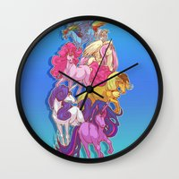 mlp Wall Clocks featuring MLP... esque by Sempaiko