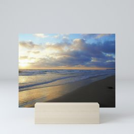 California Beach at Dusk by Reay of Light Mini Art Print