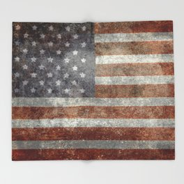 Old Glory, The Star Spangled Banner Throw Blanket