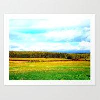 Grass of home Art Print