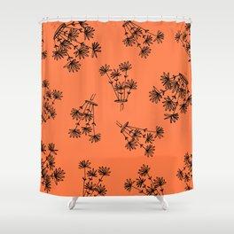 orange? flower eaters everywhere Shower Curtain
