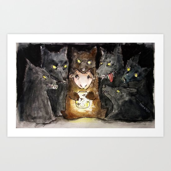 Sheep in Wolf's clothing Art Print