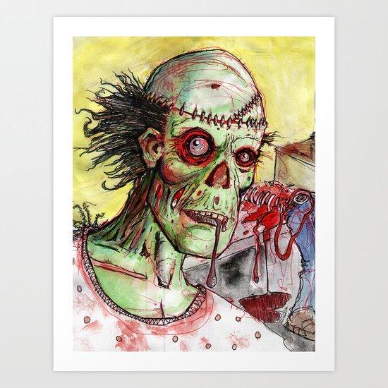 zombie patient Art Print
