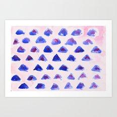 Mini Mountains Art Print
