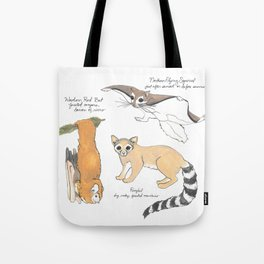 Look for These Animals at Night Tote Bag