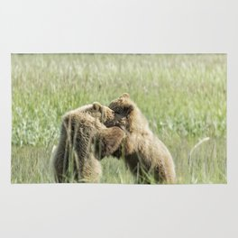 Brown Bear Cubs - Wrestling Match Rug