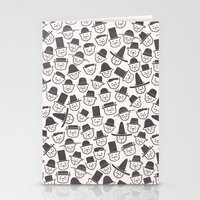 hats Stationery Cards featuring Cats With Hats by Teo Zirinis