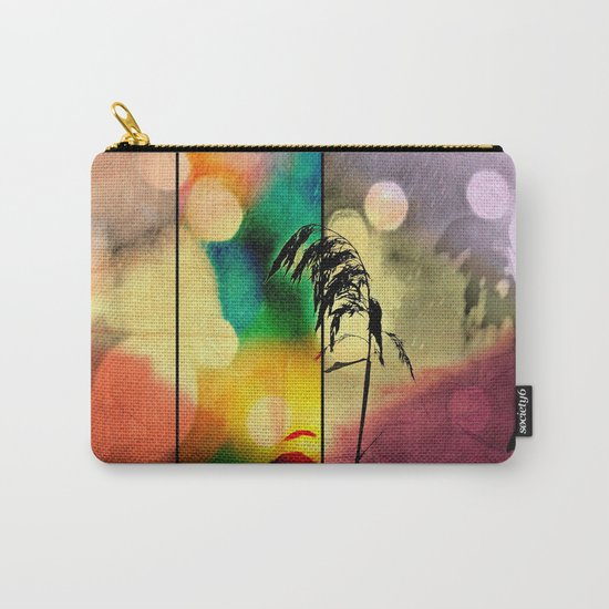 Rainbow Grass Diamond Carry-All Pouch
