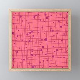 Woven Web pink Framed Mini Art Print