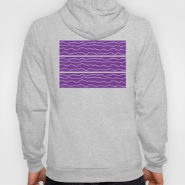 Purple with White Squiggly Lines Hoody