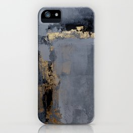 Gold gray abstract iPhone Case