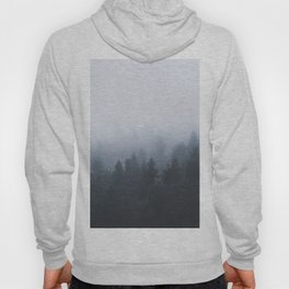 Mysterious forest in the fog Hoody