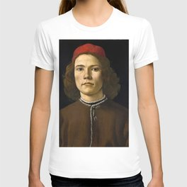 """Sandro Botticelli """"Portrait of a Young Man"""" (II) T-shirt"""