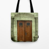 portal Tote Bags featuring Portal by freedom-of-art