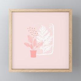 Fern and Fossil Print Framed Mini Art Print