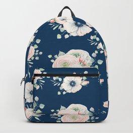 Dog Rose Pattern Backpack