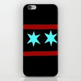 Chicago Flag (traditional) iPhone Skin
