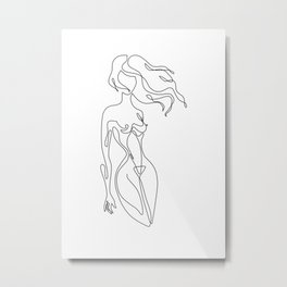 Sensual lines Metal Print